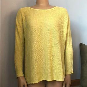 Eileen Fisher Linen Knit Lightweight Sweater
